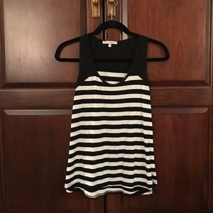 Black and white striped tank top